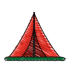 Tent icon image vector