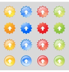 This side up sign icon Fragile package symbol Set vector image