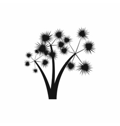 Three spiky palm trees icon simple style vector