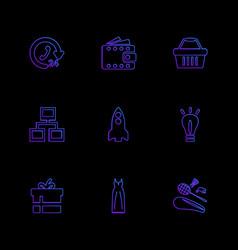 Travel destination shopping reset calender vector
