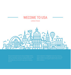 Travel to usa vector