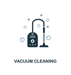 vacuum cleaning icon creative two colors design vector image
