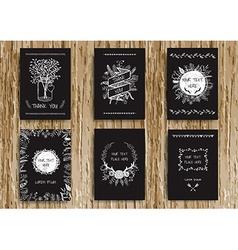 Vintage card chalkboard vector image