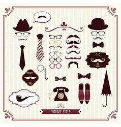 vintage style vector image
