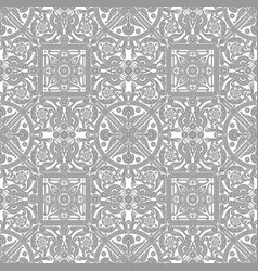 vintage tile design pattern vector image
