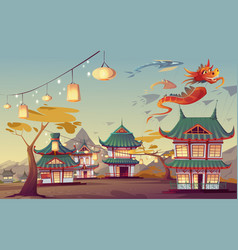 weifang kite festival in china vector image