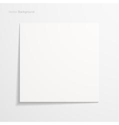 White sheet paper vector