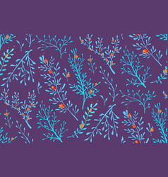 wild grass and herbs seamless pattern background vector image