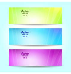 Abstract blurred banner set vector image vector image