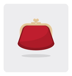 flat icon purse vector image