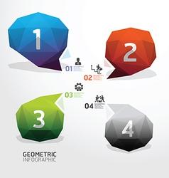 Geometric bubble colorful Modern Design vector image vector image