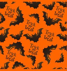 halloween pattern with bats vector image vector image