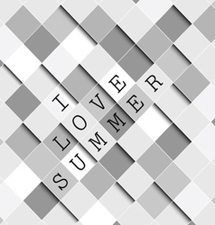 i love summer background vector image