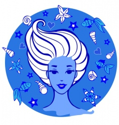 sea woman vector image vector image