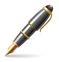 glossy pen vector image vector image