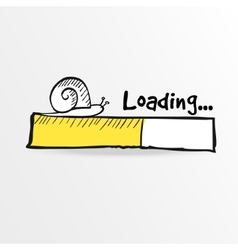 Loading bar with a doodle snail vector image