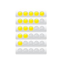 progress bar from circles vector image vector image