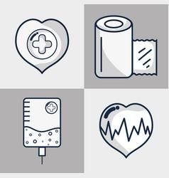 Set hospital element to emergency vector