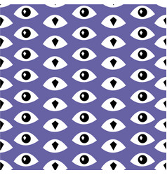 trendy fashion pattern with eyes vector image vector image