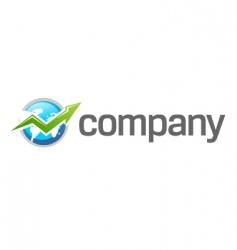 world finance growth logo vector image vector image