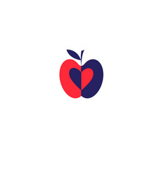 apple red icon vector image