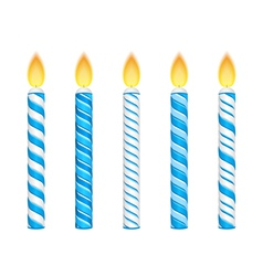 Blue candles vector