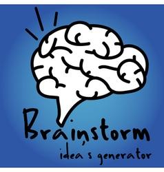Brainstorm idea generator vector image vector image