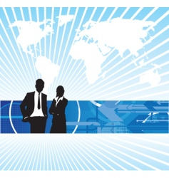business people world background vector image vector image