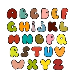 Hand drawn alphabet made in vector image vector image