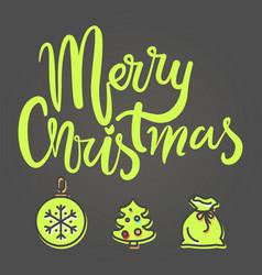 merry christmas festive banner vector image vector image