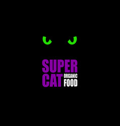 nutrition for cat logo vector image
