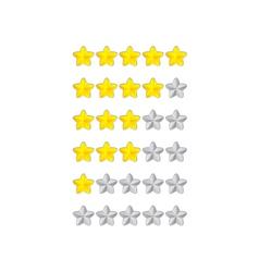 progress bar from flower stars vector image vector image