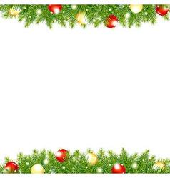 Xmas And Happy New Year Border vector image vector image