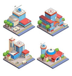 1606i125001Sm003c11hospital isometric vector image vector image