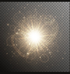 Gold with hearts vector