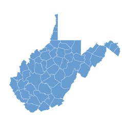 State Map of West Virginia by counties vector image