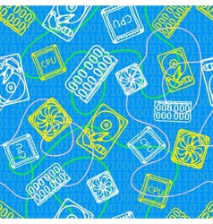 texture with computer icons for design vector image vector image