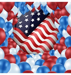 United of states with design balloons vector image