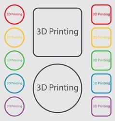 3D Print sign icon 3d-Printing symbol Symbols on vector