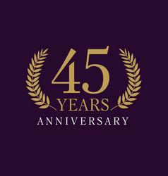 45 anniversary royal logo vector