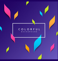 Abstract artistic leaf colorful background vector