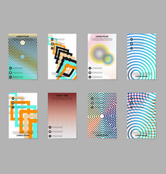 Abstract business brochure compositions vector