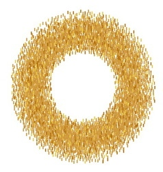 Abstract golden frame vector