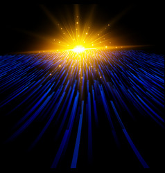 abstract technology blue light laser lines vector image