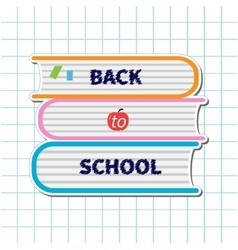 Back to school Stack of books apple Paper sheet vector image