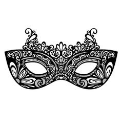 Beautiful masquerade mask vector