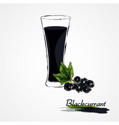 blackcurrant juice vector image