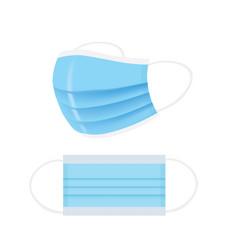 blue surgery mask set vector image