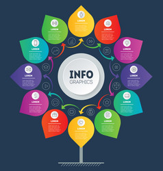 Business presentation concept with 12 options or vector