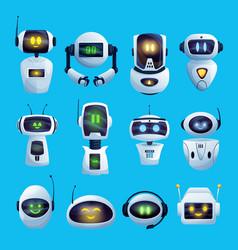 cartoon chat bots and robots set vector image